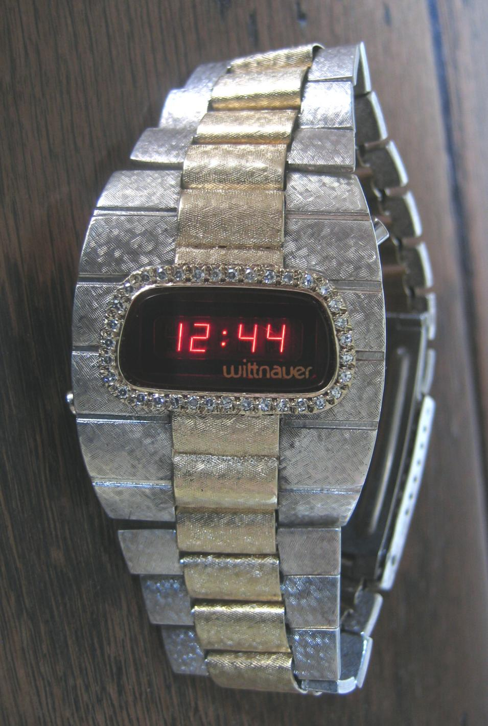 Wittnauer sterling silver and gold LED watch
