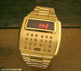 Pulsar wrist calculator.