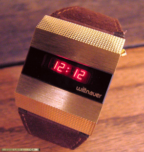 Large gold-fill Wittnauer with suede band.